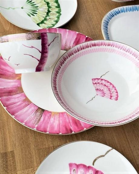 New Grace 6pc Pasta Plate Set 21cm - Thumbnail