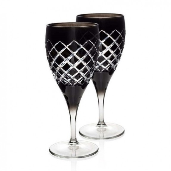 ZM DECOR - Nila Black 6pc Stemware Set