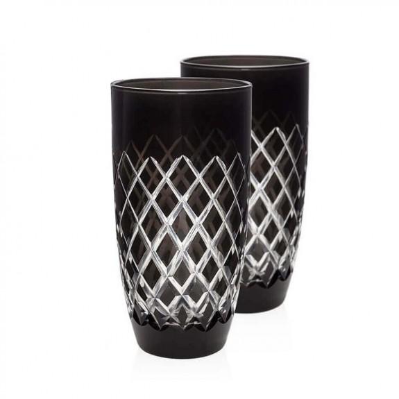 ZM DECOR - Nila Black 6pc Water Glass Set - Large