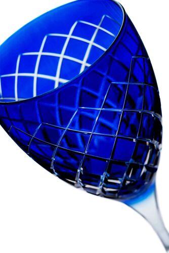 Nila Blue 4pc Stemware Set