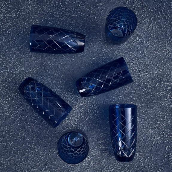 Nila Blue 6pc Water Glass Set - Large - Thumbnail