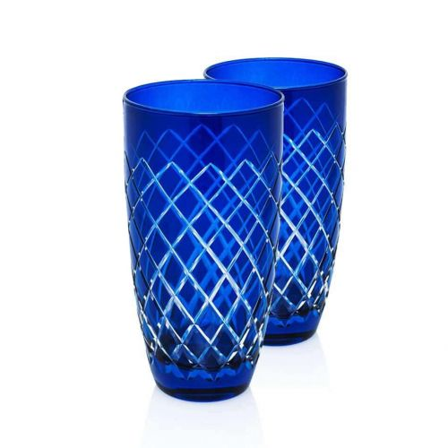 Nila Blue 6pc Water Glass Set - Large