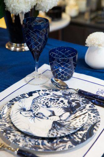 Nila Blue 6pc Water Glass Set - Small