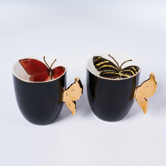 MIKASA MOOR - Papiyon Black 2pc Mug Set