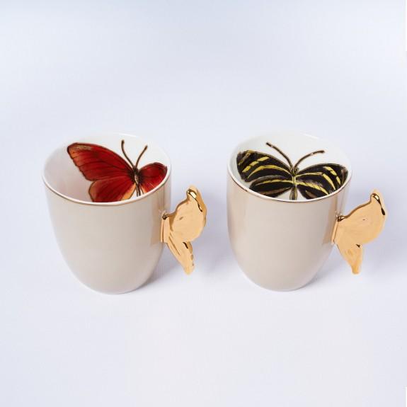 MIKASA MOOR - Papiyon Beige 2pc Mug Set