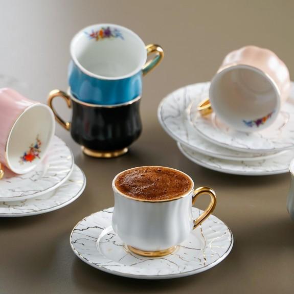 ACAR - .Penelope 6-Person Turkish Coffee Set