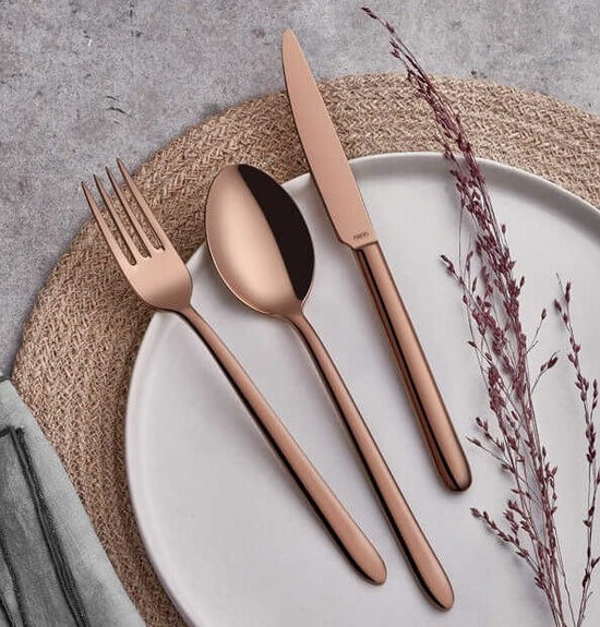 NARIN - Pladies Copper 18pc / 42pc Cutlery Set