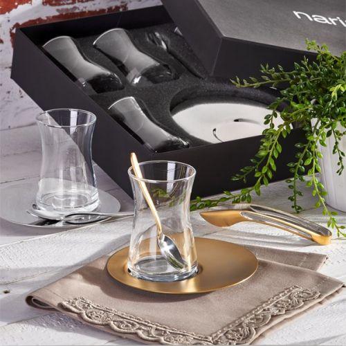 'Saturn Basic 19pc Turkish Tea Set