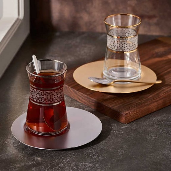 NARIN - ''Saturn Design 19pc Turkish Tea Set