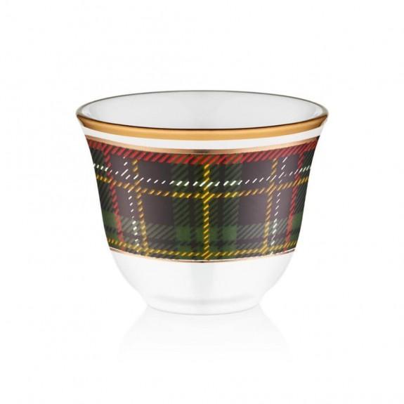 GLORE - Scottish Green 6-Person Arabic Coffee Set