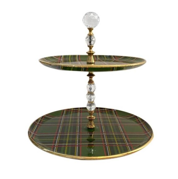 GLORE - Scottish Green Serving Stand