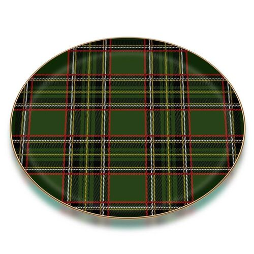 Scottish Green Serving Tray