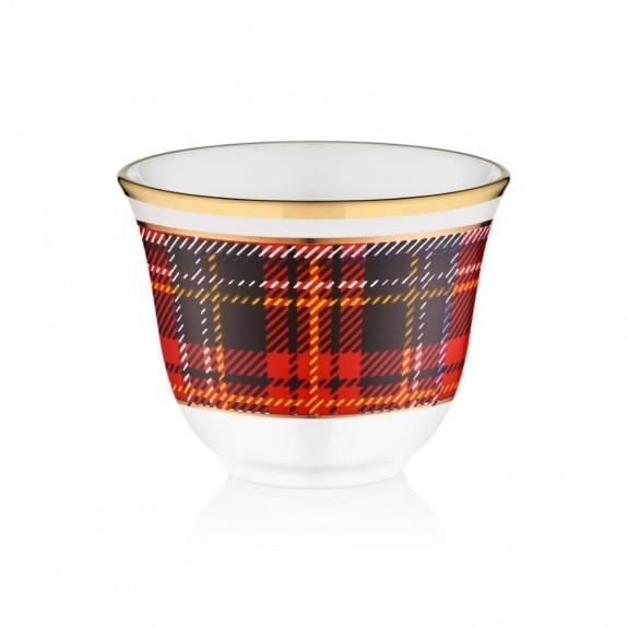 GLORE - Scottish Red 6-Person Arabic Coffee Set