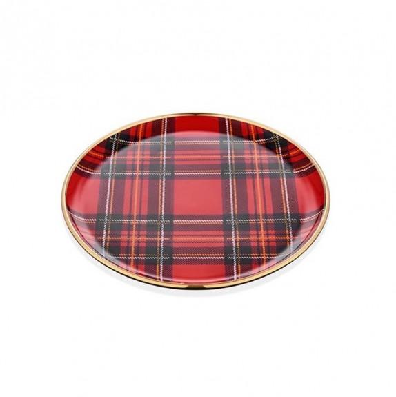 GLORE - Scottish Red 6pc Dessert Plate Set 20cm