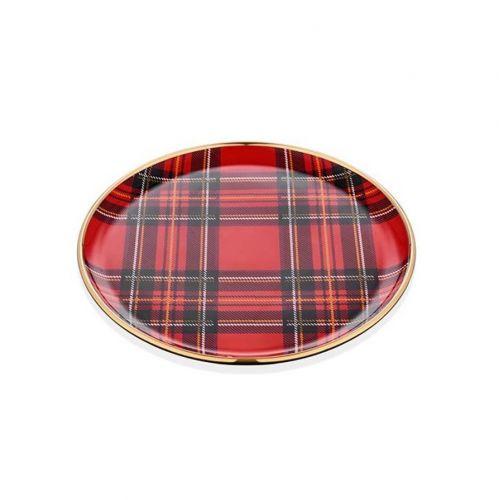 Scottish Red 6pc Dessert Plate Set 20cm