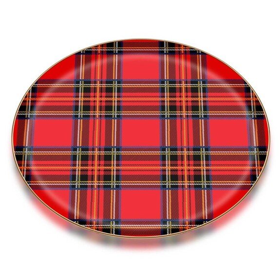 Scottish Red Serving Tray - Thumbnail