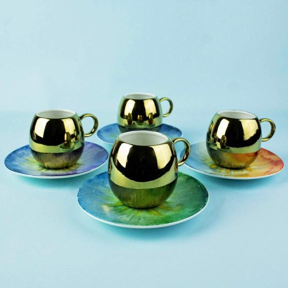 MIKASA MOOR - ''Shiny 4-Person Turkish Coffee Set
