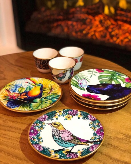 Sparrow 6-Person Turkish Tea + Arabic Coffee Set - Thumbnail