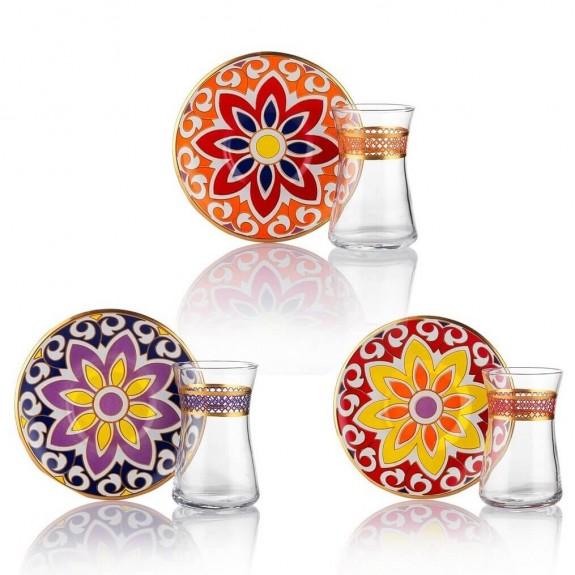 SCHAFER - Spice Road 6-Person Turkish Tea Set