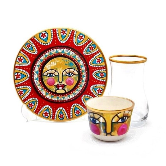 TOYGAR - Sun 6-Person Turkish Tea + Arabic Coffee Set