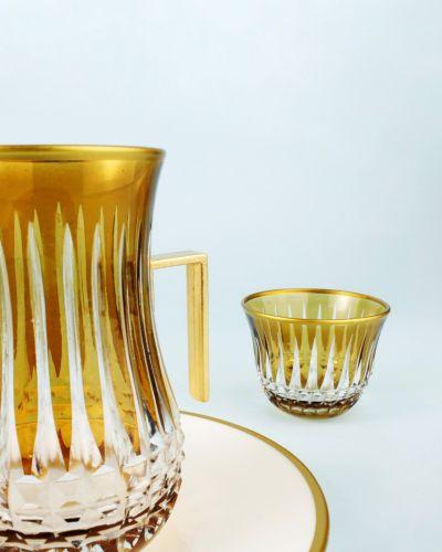 .'TG Budai Amber 18pc Tea + Arabic Coffee Set