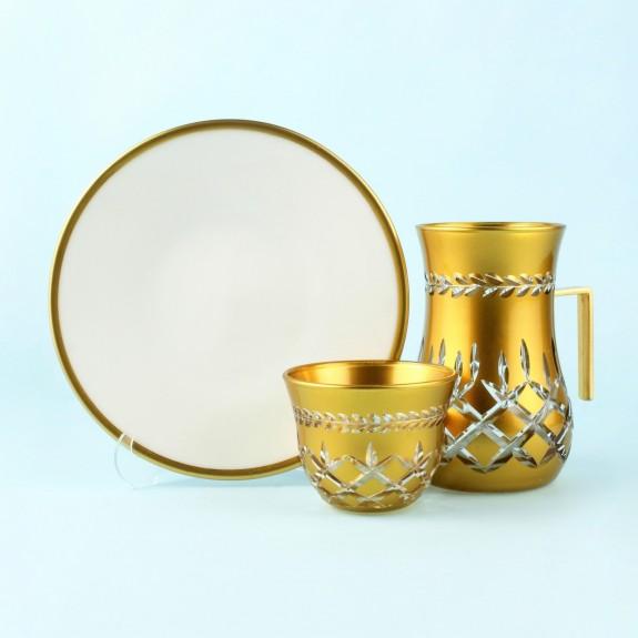 TOYGAR - 'TG Lisbon Handle 18pc Tea + Arabic Coffee Set