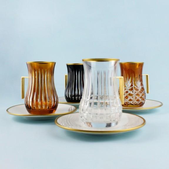 .'TG Moscow Handle 18pc Tea + Arabic Coffee Set - Thumbnail