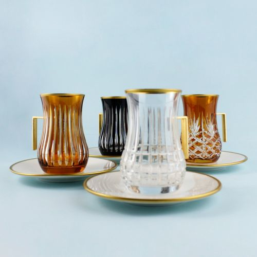 .'TG Moscow Handle 18pc Tea + Arabic Coffee Set