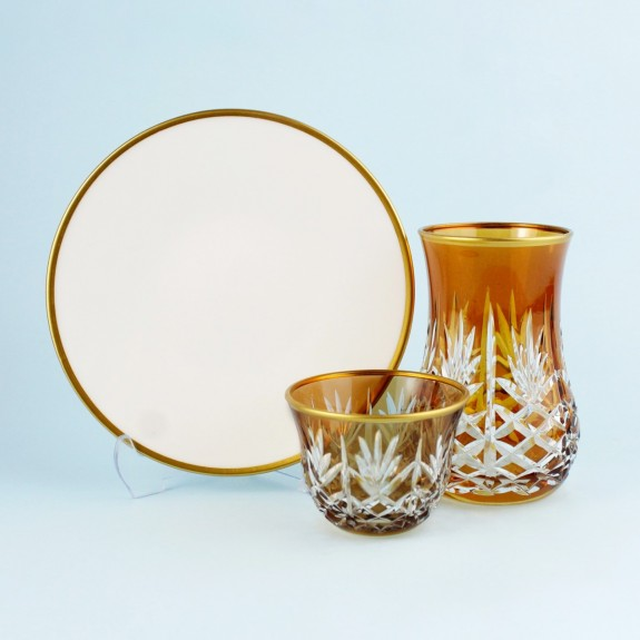 TOYGAR - 'TG Pineapple Amber 18pc Tea + Arabic Coffee Set