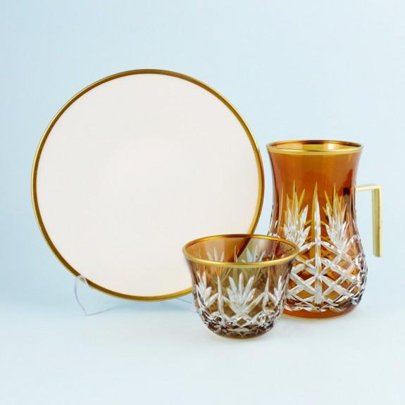 TOYGAR - 'TG Pineapple Amber Handle 18pc Tea + Arabic Coffee Set