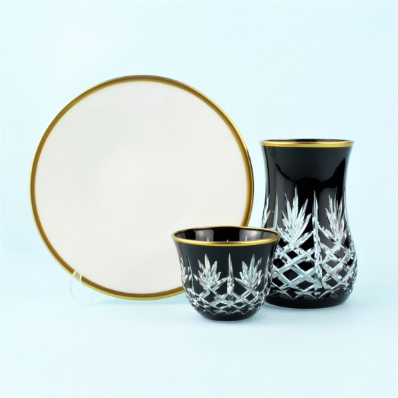 TOYGAR - 'TG Pineapple Black 18pc Tea + Arabic Coffee Set