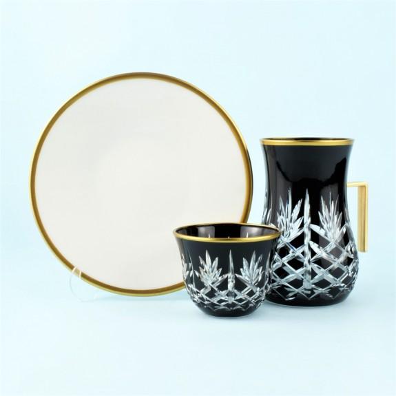 TOYGAR - 'TG Pineapple Black Handle 18pc Tea + Arabic Coffee Set