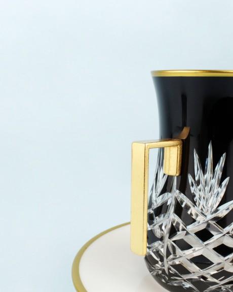 .'TG Pineapple Black Handle 18pc Tea + Arabic Coffee Set - Thumbnail