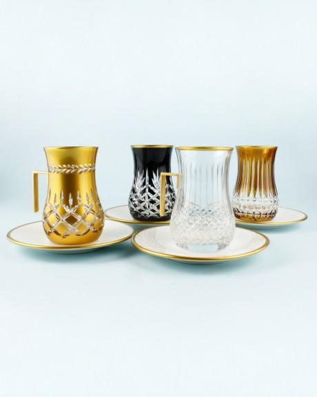 .'TG Rome Handle 18pc Tea + Arabic Coffee Set - Thumbnail