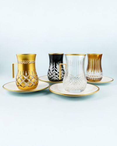.'TG Rome Handle 18pc Tea + Arabic Coffee Set